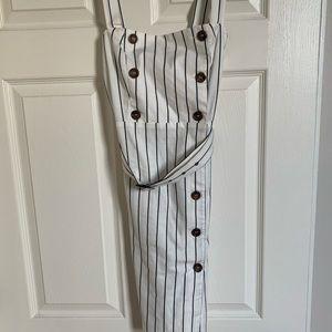 Women's Pinstriped Button Up Dress F21